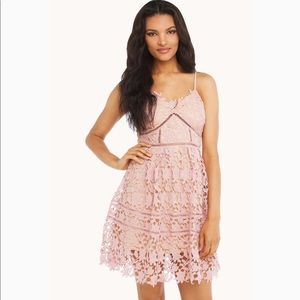 Akira 'In the midst of flowers' pink lace dress M